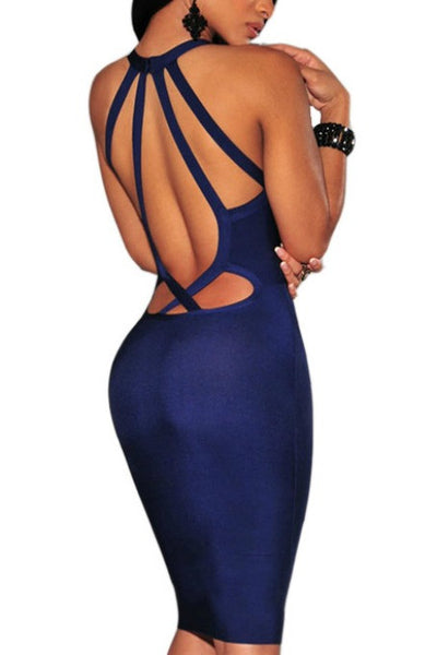 Back To Back - Bandage Dress - Navy