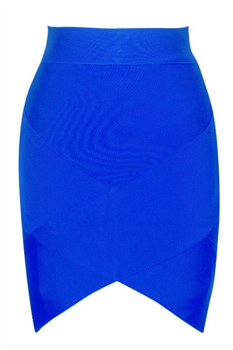 Mini Bandage Skirt - Blue