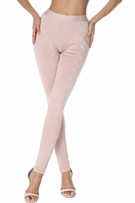 High Standards - Geometric Bandage Leggings - Blush