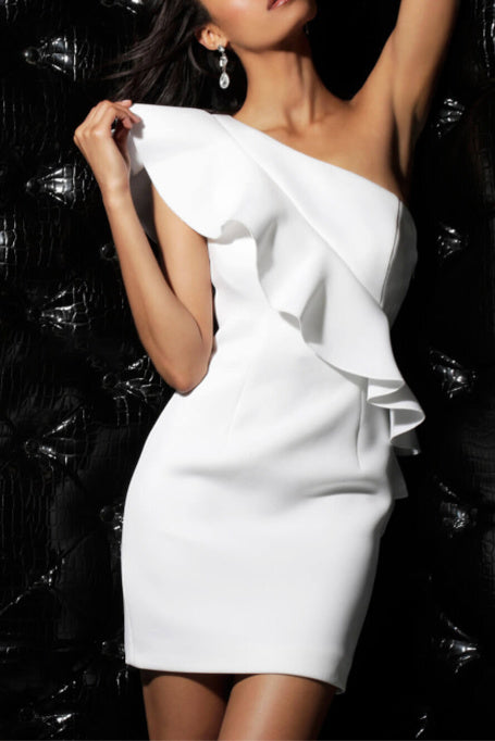 Peyton - One Shoulder Bandage Dress - White 0da0771ef