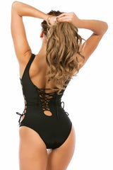 Lace Up - One Piece - Black