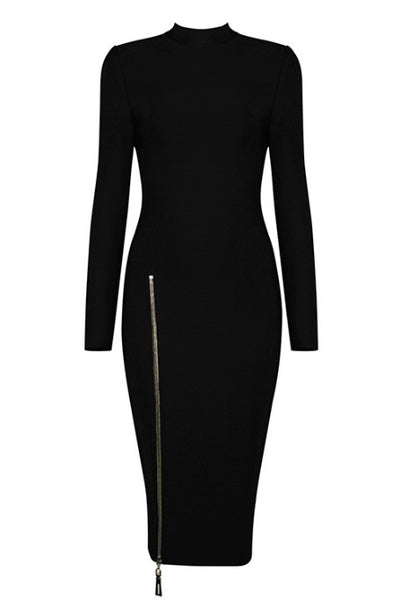 Back 2 Basics - Bandage Midi Dress - Black