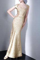 Golden Girl - Bandage Maxi Dress