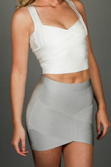 Angelic - Bandage Top - White