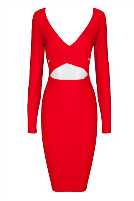 Unapologetic - Bandage Dress - Red