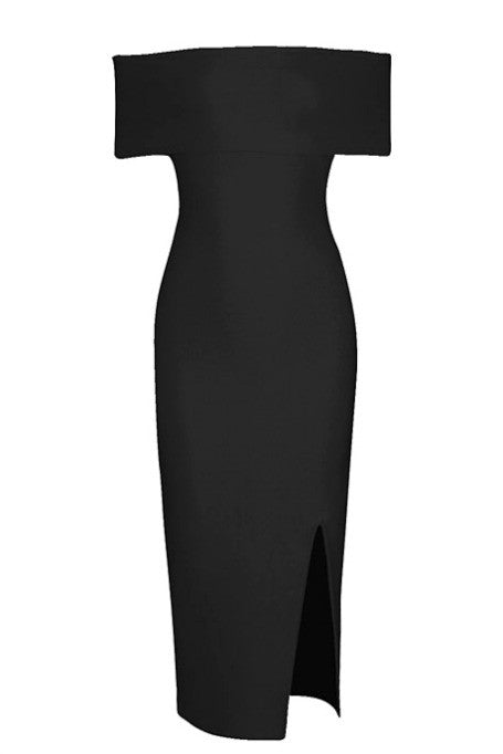 Bold Move - Bandage Midi Dress - Black