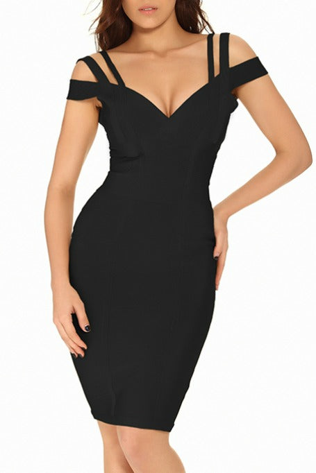 Even Better - Off Shoulders Bandage Dress - Black d39d0e837