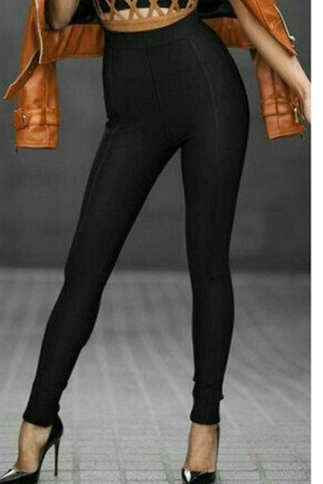 Basic Need - High Waisted Leggings - Black