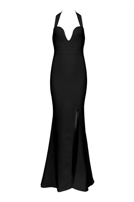 First Kiss - Bandage Maxi Dress - Black
