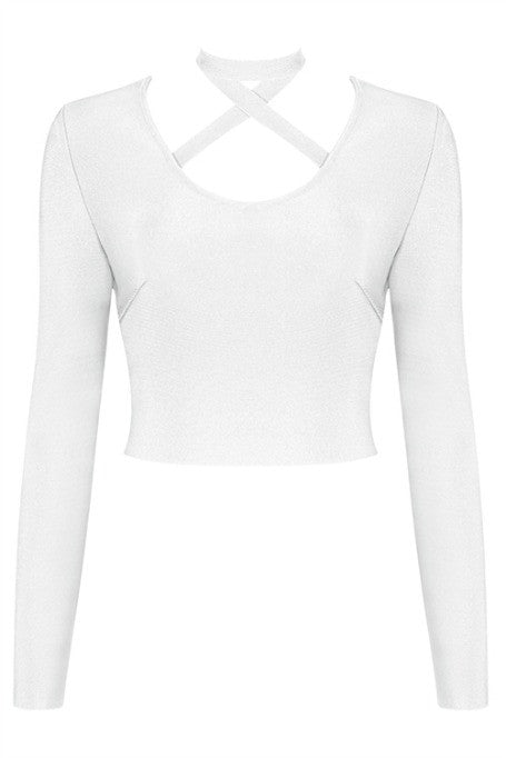 X Yourself - Bandage Long Sleeve Top - White