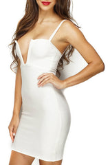 The Deeper The Better - Bandage Dress - White