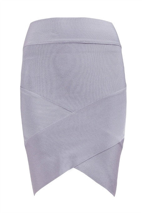 Mini Bandage Skirt - Grey