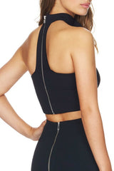 Collar - Bandage Top - Black