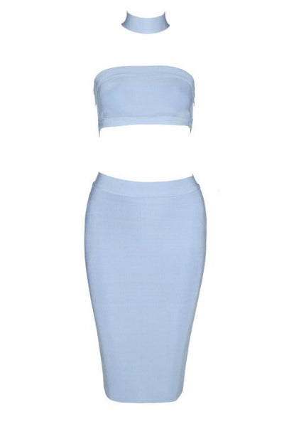 Chic Story - Two Piece Bandage Set - Baby Blue