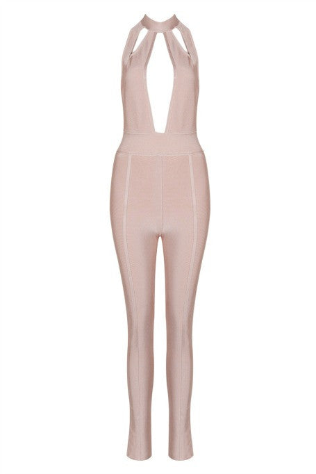 Know Better - Bandage Jumpsuit - Blush