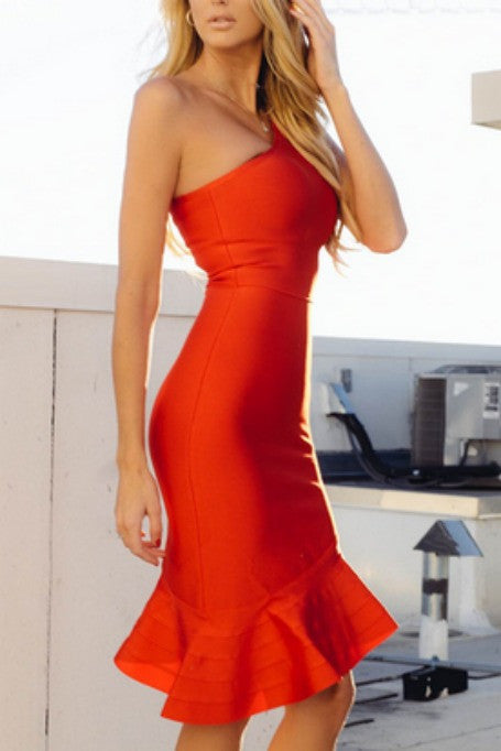 Fancy - Bandage Dress - Red
