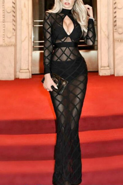 Sheer Of It - Bandage Gown - Black