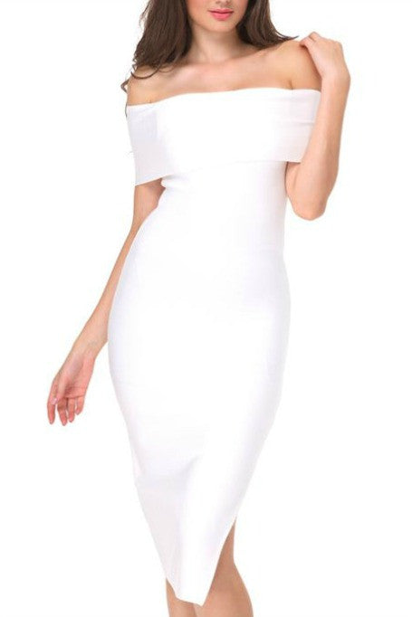 Bold Move - Bandage Midi Dress - White