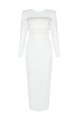 Unapologetic - Long Sleeve Maxidi Dress - White