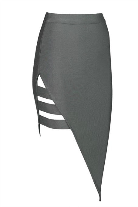 Side Lines - Bandage Skirt - Grey