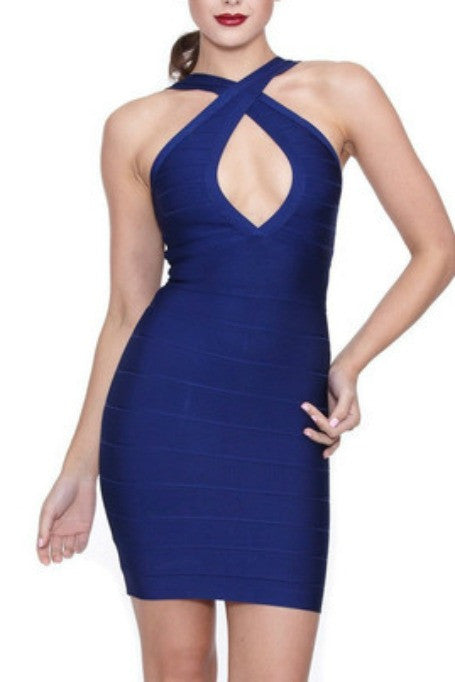 All Or Nothing - Bandage Dress - Navy