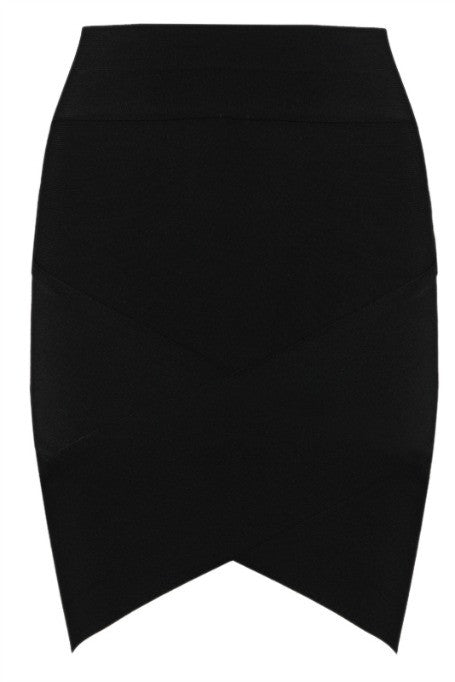 Mini Bandage Skirt - Black