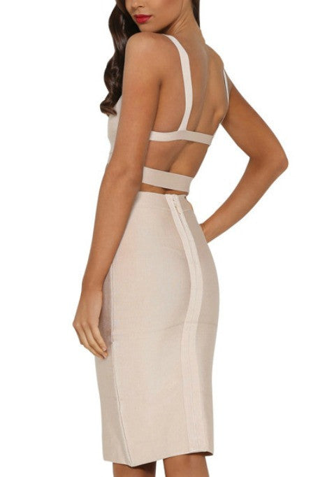 Double Dare - Two Piece Bandage Set - Nude