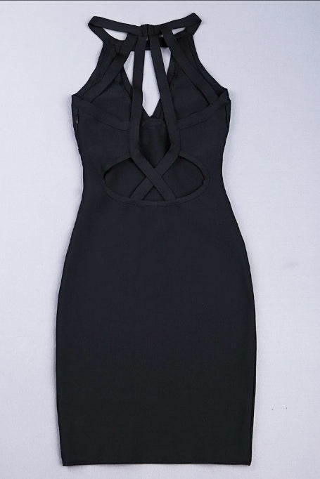 Back To Back - Bandage Dress - Black