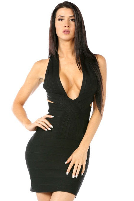 Bombshell - Bandage Mini Dress - Black