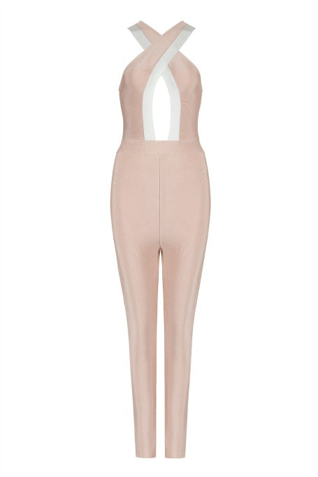 Layover - Bandage Jumpsuit - Blush