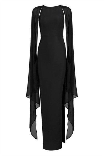 Just Go With The Flow - Maxi Bandage Dress - Black