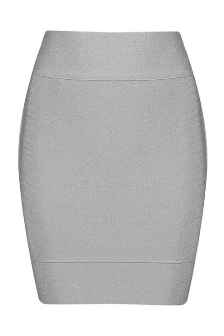Solid Work - Mini Bandage Skirt - Grey
