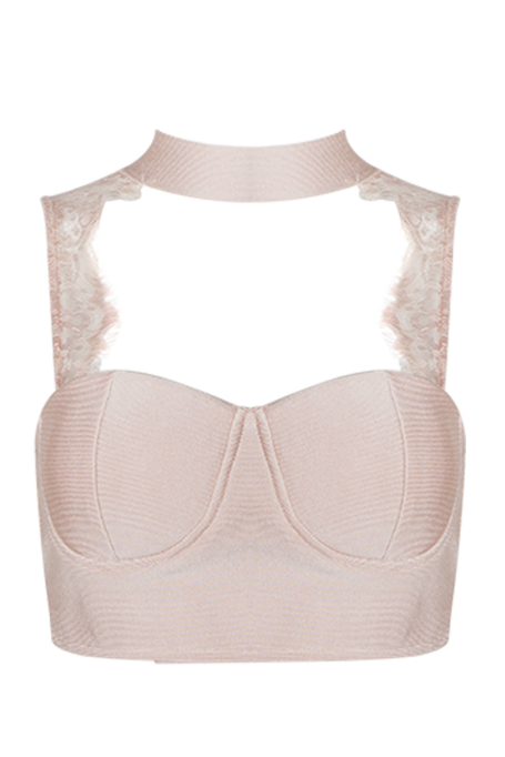 Play Nice - Lace Top - Blush