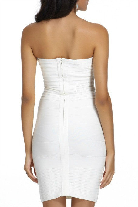 Keep It Simple - Bandage Mini Dress - White