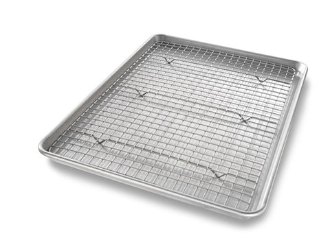USA Pans Half Sheet Pan with Bakeable Non-Stick Rack
