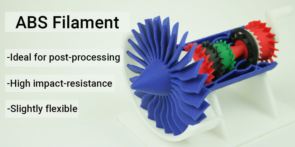 ABS FILAMENT - Impact-resestance - Slightly flexible