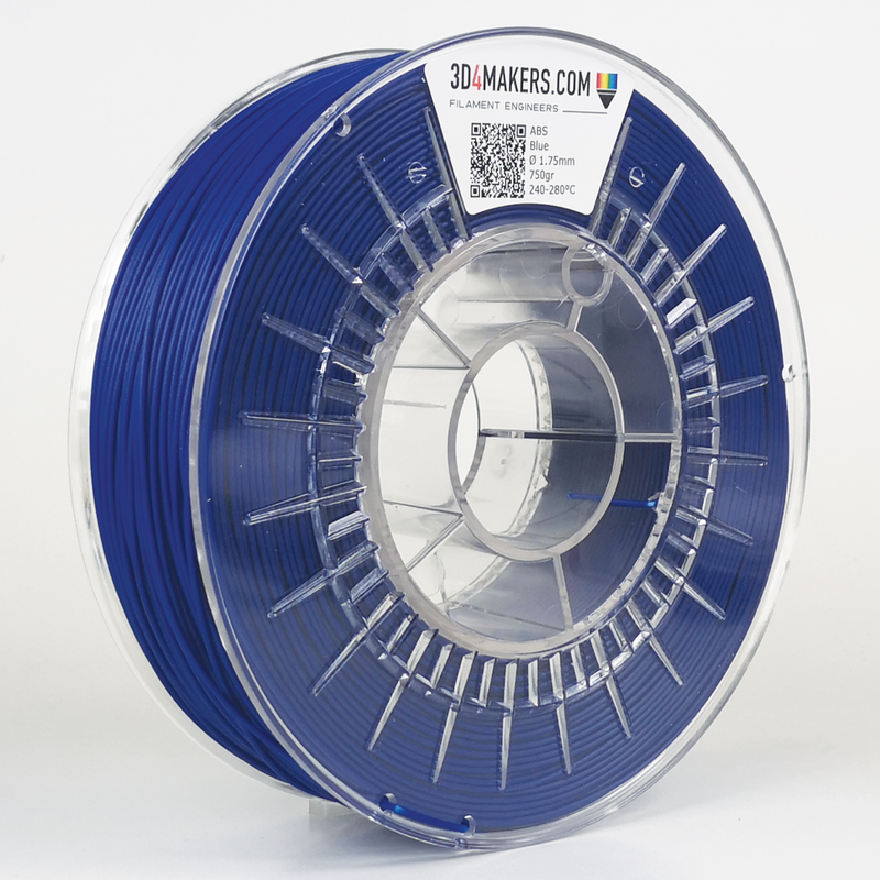 ABS Filament 3D printing Blue 3D4Makers