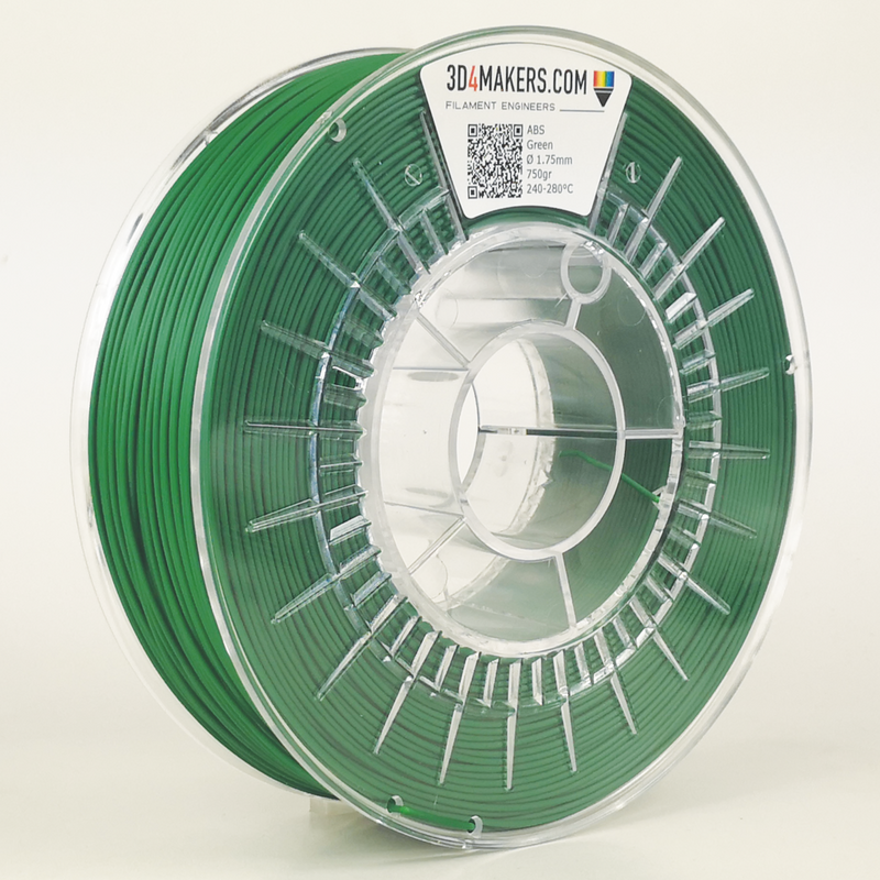 ABS Filament 3D printing Green 3D4Makers