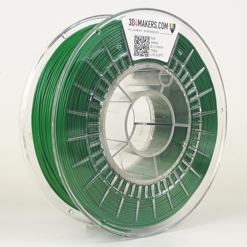 PLA Filament 3d printing Green 3D4Makers