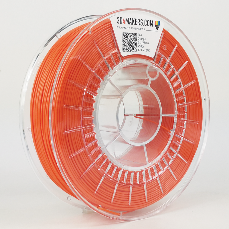 PLA Filament 3d printing Orange 3D4Makers