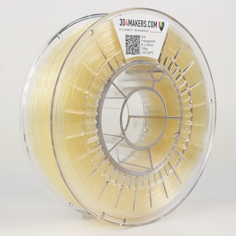 PLA Filament 3d printing Transparent 3D4Makers