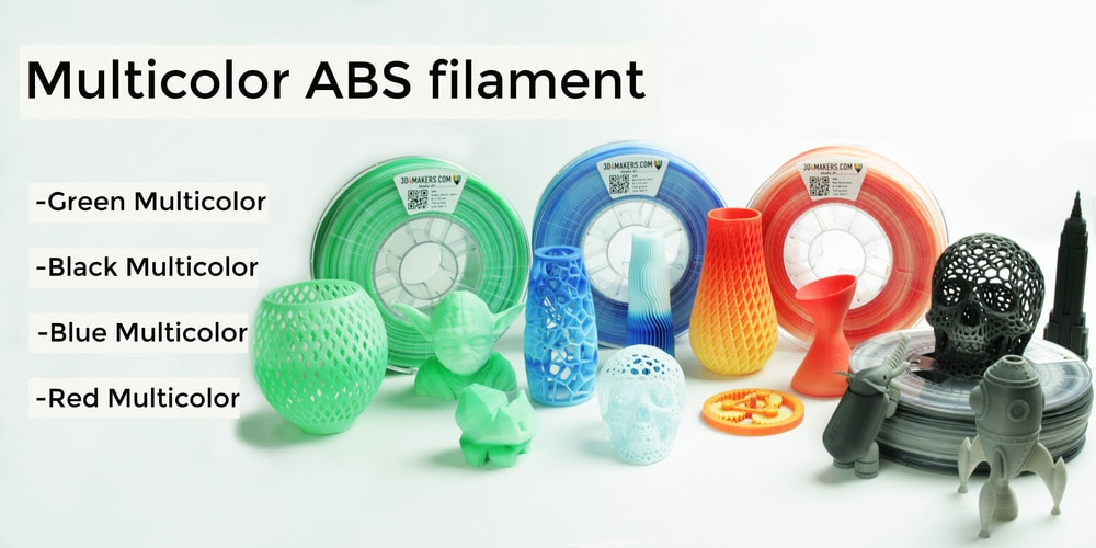 abs multicolor filament / 3d printing