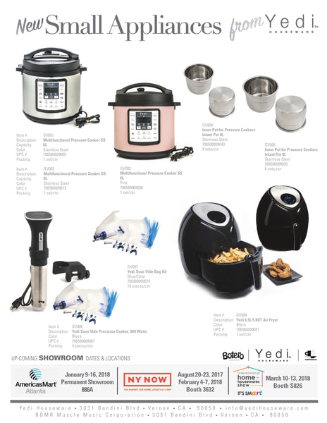 New Small Appliances from Yedi