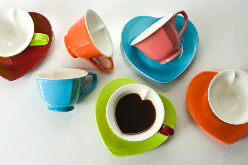 6.5 oz Cup and Saucer (set of 6) (ALL GLAZED) | Yedi Houseware