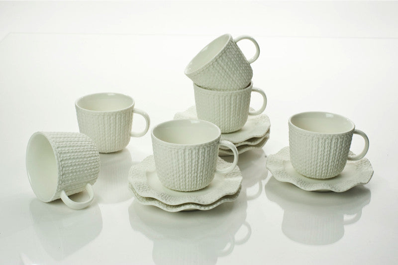 ESPRESSO CUPS & SAUCERS 3.5 OZ (Set of 6)