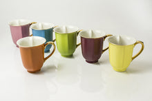 Load image into Gallery viewer, Set of 6 Assorted Gold Heart Mugs 12oz