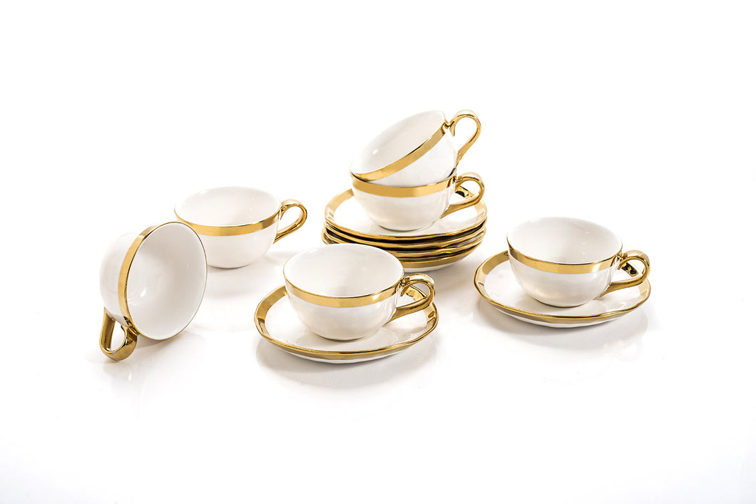 CUP & SAUCER  (SET OF 6)    4OZ