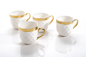 QUILTED MUGS SET OF 4