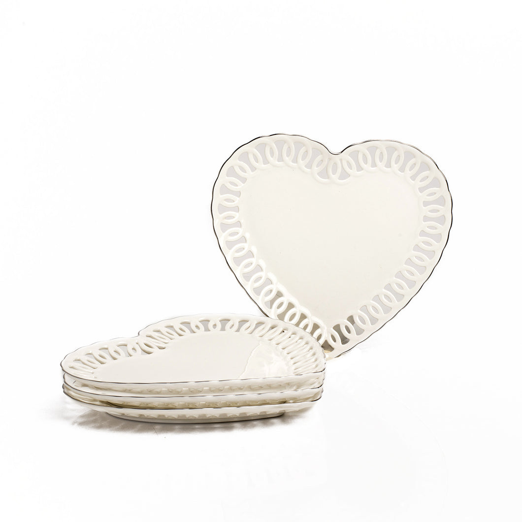 HEART PLATE SET OF 4