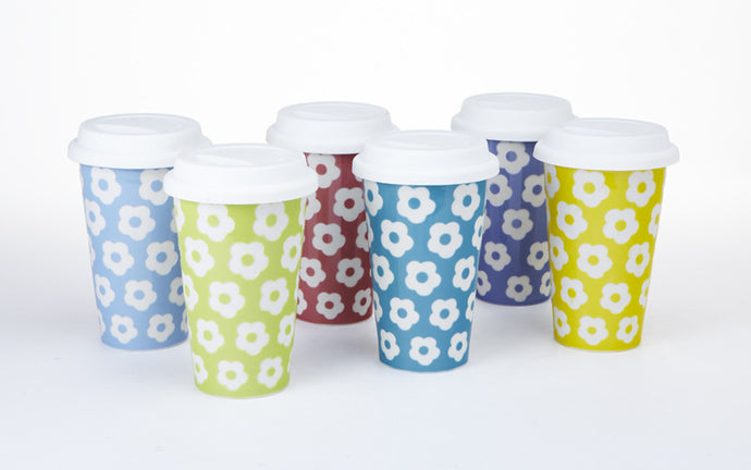DAISY TRAVEL MUG SET